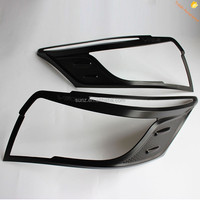 Matte Black Head Light Cover For Toyota Vios 2014 Head Lamp trim cover Best Selling Car Accessories