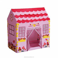 Pink Indoor and Outdoor Play House for Girls Lovely Tent House Children Ocean Balls Tent