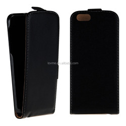 LEATHER BAG FLIP STYLE FOR APPLE IPHONE 6 BLACK CASE POCKET COVER BUMPER MOBILE