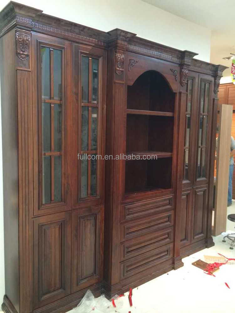 Antique solid wood book case