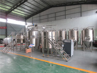 High quality stainless steel 304 500L craft beer brewery equipment for breweries with 3 years warranty
