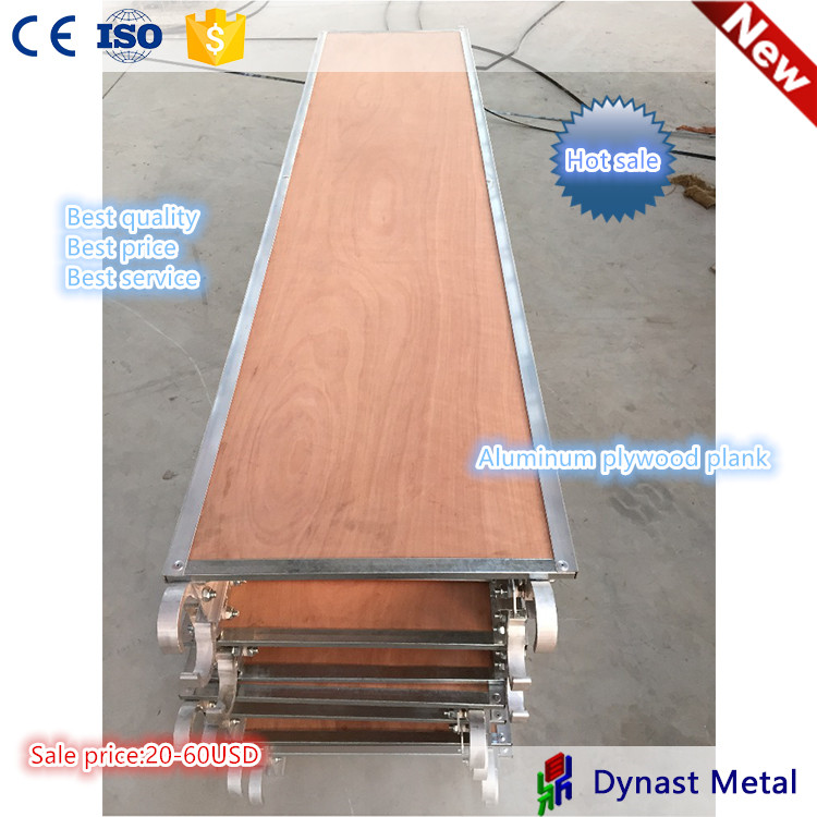 Use for H frame scaffolding system aluminum scaffolding plank with plywood