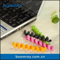 Hot Sale High Quality TPR Cable Winder Clip Rubber Holder Clamp tablecloth weight clip