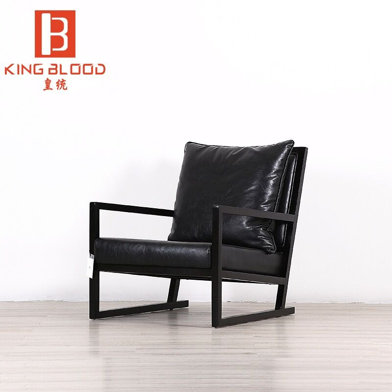 hotsale modern leisure wooden black leather arm <strong>chair</strong> sofa <strong>chair</strong>