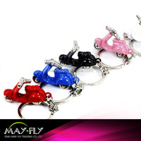 Motorcycle pendant metal keychain, German model motorcycle keychain,color keychain