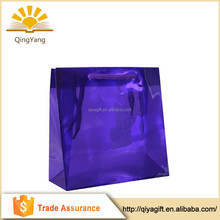 Wholesale eco friendly custom blank pvc gift bag
