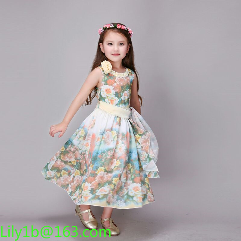 kids frocks designs baby gril wedding Party Formal Princess Occasion Wedding Flowers Dress