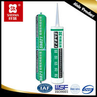 silicone rubber adhesive sealant with structural bonding and two components