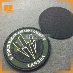 custom embroidered name patch tag iron on badge for shirts jackets