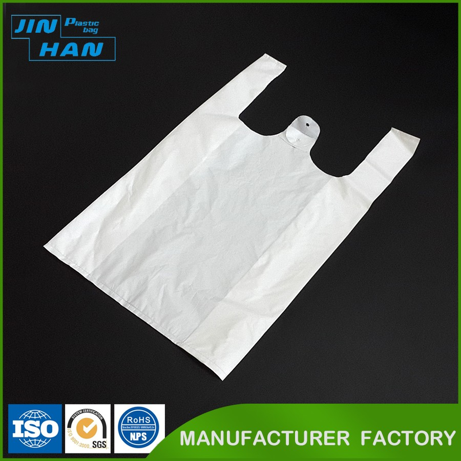 Biodegradable Plastic Recyclable Custom Printed Plastic T Shirt Bags
