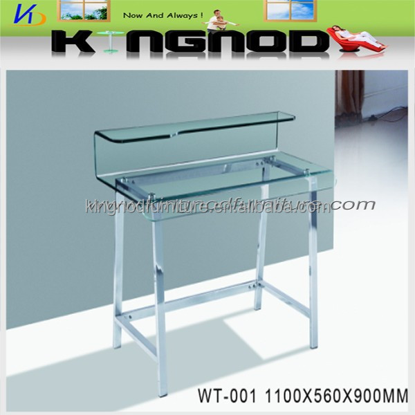 Tempered glass and stainless steel leg for kids writing table