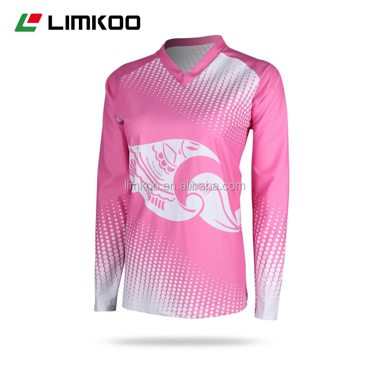 2016 Women sublimation wholesale volleyball jersey