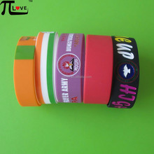 best selling silk screen printing silicone wristbands for men