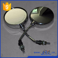 SCL-2013011412 RE205 ,RE2S ,RE4S ,REE DTEESEL Three Wheeler Motorcycle Chrome Silver Mirror