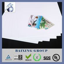 Offset printing card making rigid PVC sheet for making card
