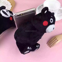 Wholesale hot plush bear mobile phone case for iphone 6 4.7 5.5