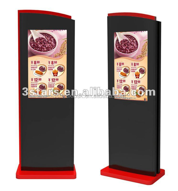 32 inch floor standing mobile video ads display show indoor digital signage