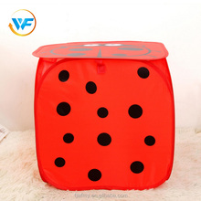 Red Fabric Storage Basket Cute Animal Collapsible Laundry Hamper washable basket with cover