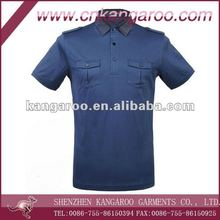 Pilot Polo shirts/epaulet polo shirts for men/Military style pockets polo tee shirt