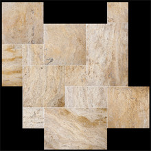 Italian honed ivory beige travertine