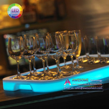 liquor wine beverages glass led bar serving tray (cc529)