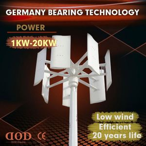 Horizontal wind turbine 600w 1kw 2kw 3kw 5kw for home use vertical wind mill