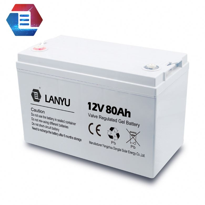 6-DG-80 High Capacity Lead Acid Battery Electric Tricycle Battery With GEL Battery 12V80Ah