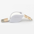 2 in 1 Retractable Usb Data Cable Universal Multi Usb Charger Cable For Android For iPhone