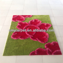 modern Design hand-made Flower Carpets and rugs for decoration