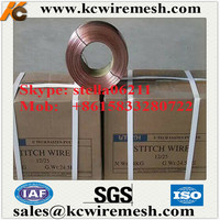 Factory!!!!!!!! Kangchen copper coated stitching wire/galvanized flat steel wire