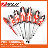 7pcs in one bag one man one screwdriver with test pencil flag handle magnetic adjustable screwdriver slotted phillips durable