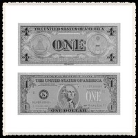 Silver Foil Banknotes US 1 Dollar New Products