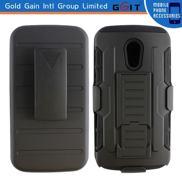 For Motorola G2 Holster Case, For Moto G2 Silicon + PC Case