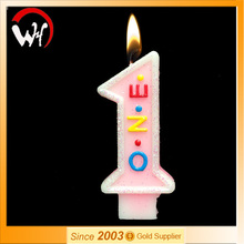 One letter birthday cake number party candle