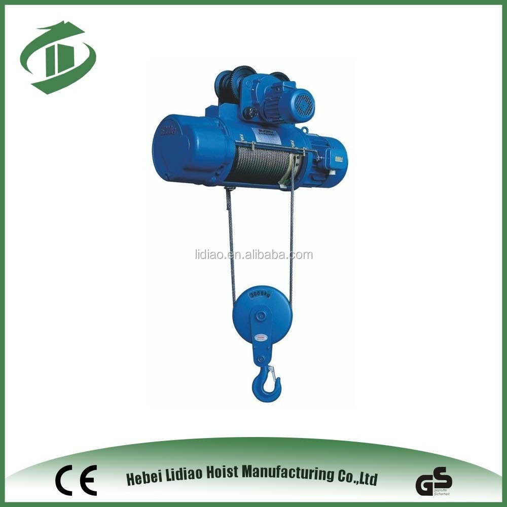 0.5-5T Electric Wire Rope Hoist hot sale in China