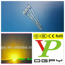3MM 5mm flat top yellow led diode