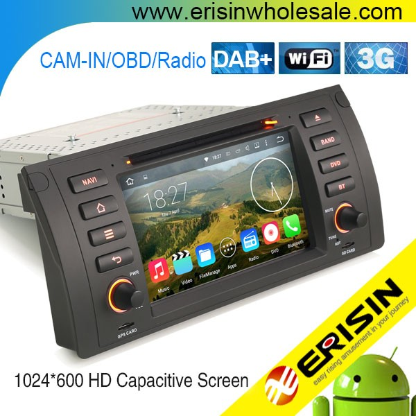Erisin ES4053B 2 Din 7 inch Car Audio System with GPS Bluetooth for E39
