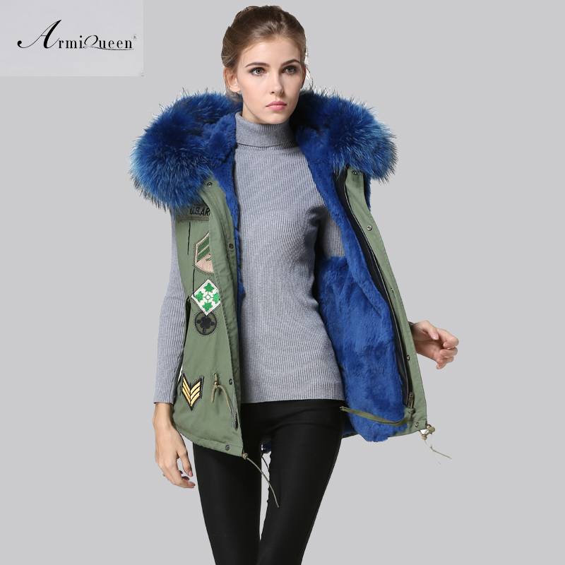 Facotory Price Fashion Fully Blue Collar Fur Vest,Winter ...