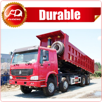 prices for China CNHTC heavy duty 8x4 50ton 12-wheel dump truck