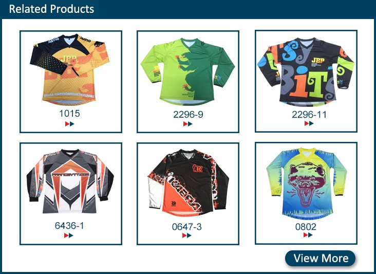 2018  hot sale basic unique custom sublimation bmx jersey