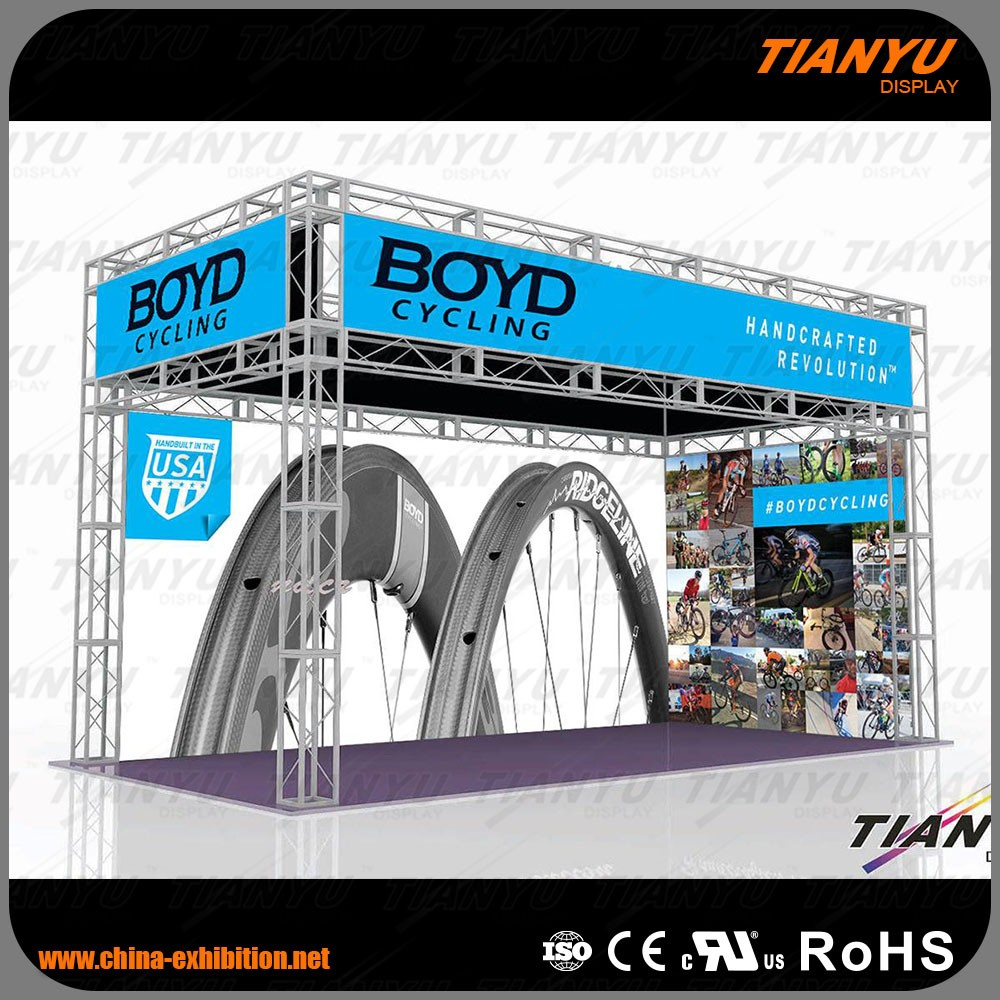 20ftx30ft Trade Show Booth Exhibit Display with LED Light Platform for Game Show Rental from TIANYU
