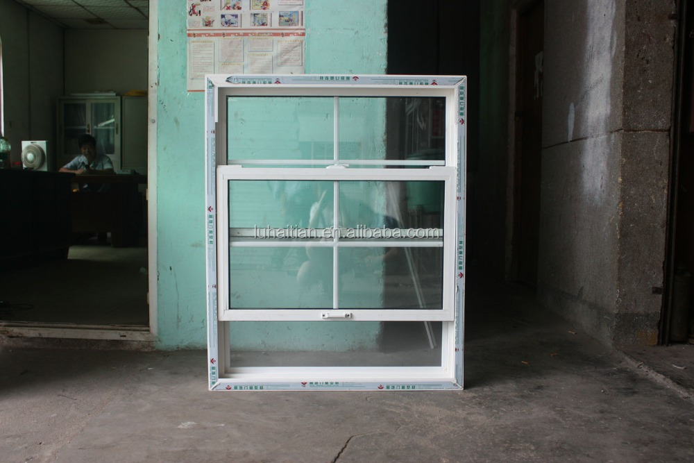 Guangzhou factory pvc vertical sliding window sash window and double hung windows