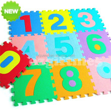 Children Kids Baby Alphabet Numbers Pictures Plain Eva Foam Play Mat