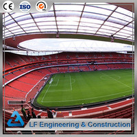 Fast Installation Large Area Steel Structure Soccer Stadium