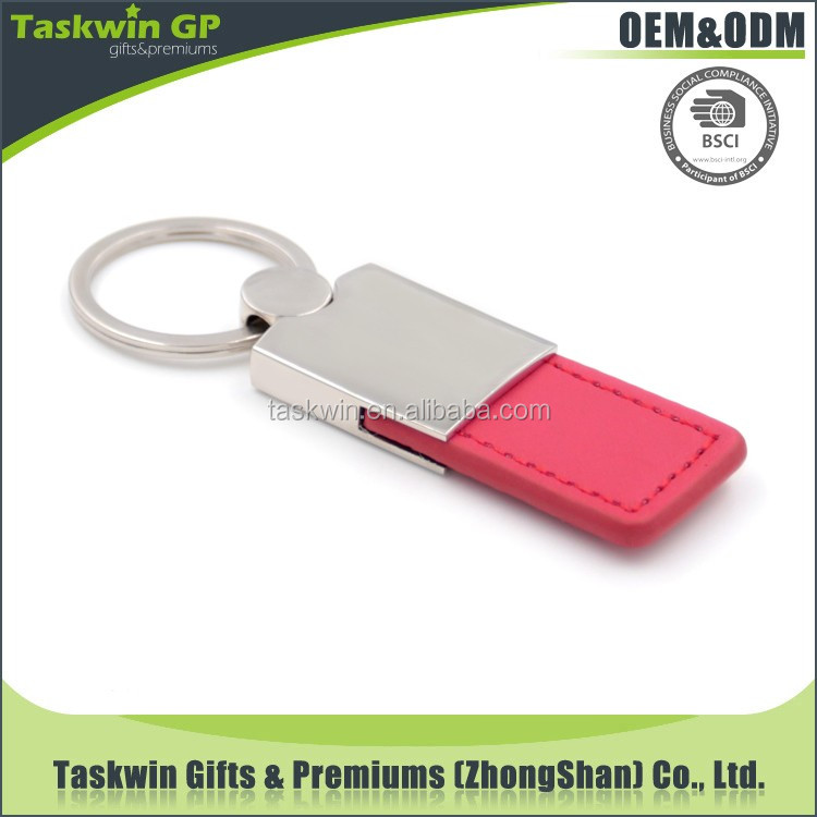wholesale high quality leather keychain / custom keychain / key chain