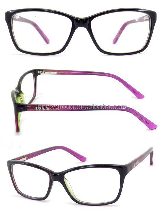 2015 newest style cheap high quality acetate optical with metal spring hinge and pattern