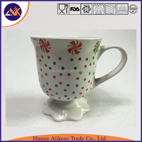 Special bottom cheap bulk stoneware ceramic coffee/tea/soup mug with handle from China