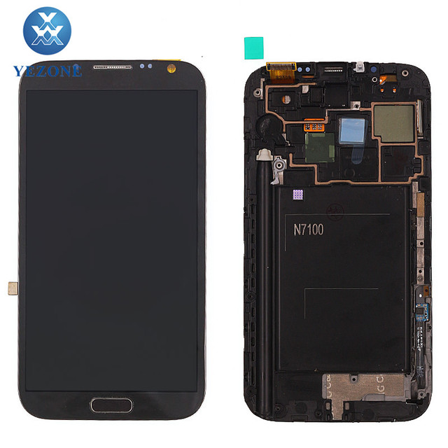 5.5 inches Black Digitizer Assembly For Samsung Galaxy Note 2 N7100 LCD Touch Screen Panel Full