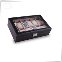 reasonable pu leather white watch strap packaging box storage travel case