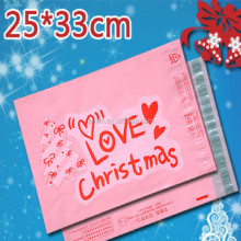 Happy Christmas mailing plastic bag for gift packing
